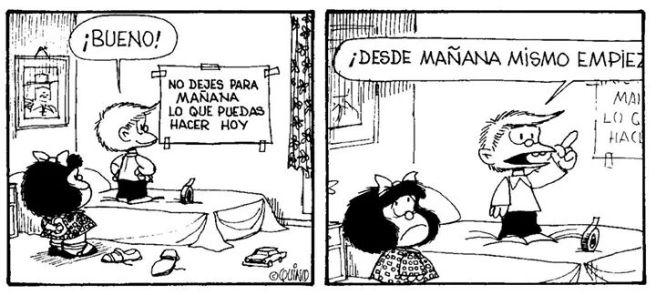 Mafalda/procrastinar
